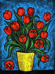 Red Birthday Tulips